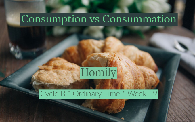 Homily: Consumption vs Consummation