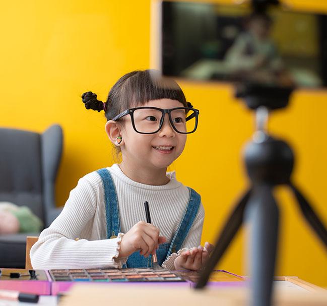 Girl at webcam