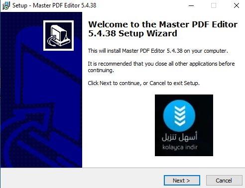 تنصيب ماستر بي دي اف اديتور للتعديل على ملفات الـPdf على الكمبيوتر