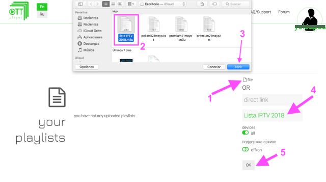 como poner agregar listas iptv en ott player app android