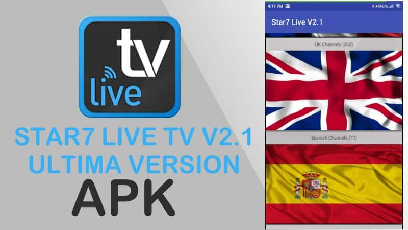 descargar star7 live tv v2.1 apk gratis android descargar app pc ios