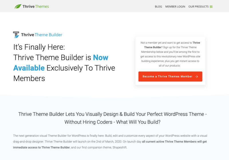 Thrive Theme Builder Overview 2020: Highly effective Consumer-Pleasant Theme Builder