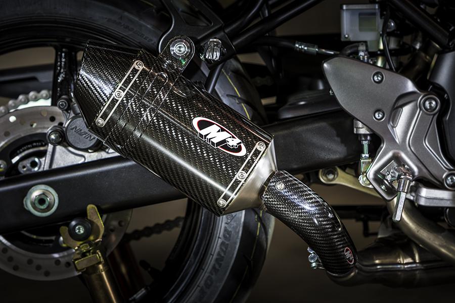 2017 2021 suzuki sv650 slip on carbon shop m4 exhaust