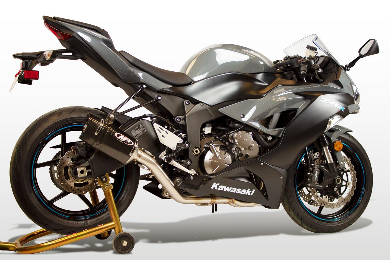 2009 2021 kawasaki zx 6r full system mc36 carbon shop m4 exhaust