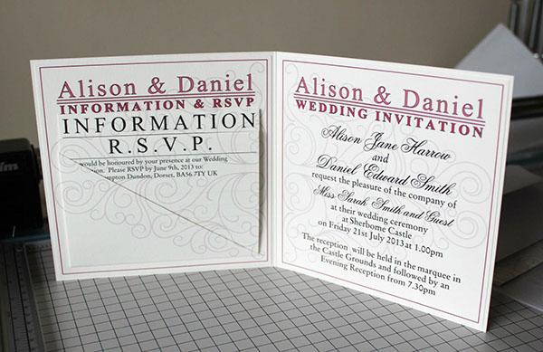 Types Of Bespoke Wedding Invitations Part 2 Paper