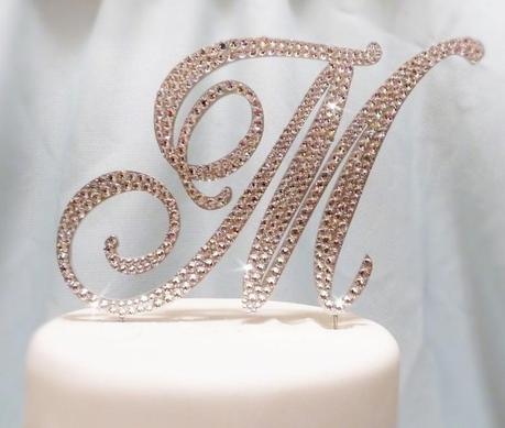 5 Beautiful Monogram Wedding Cake Toppers Paperblog