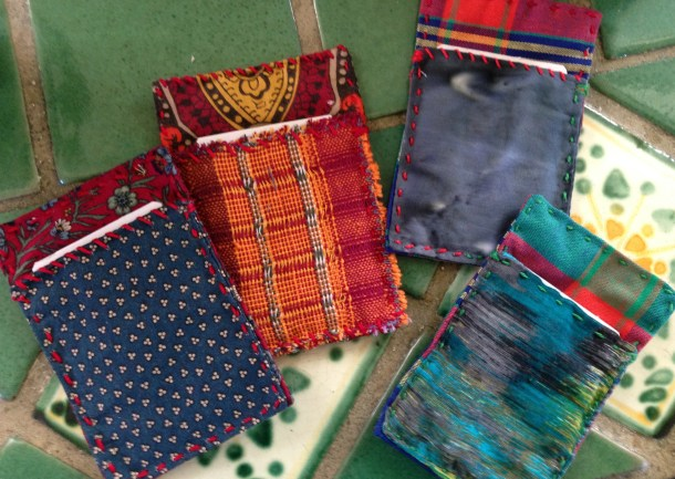 fabric card holders