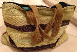 rag rug beach bag