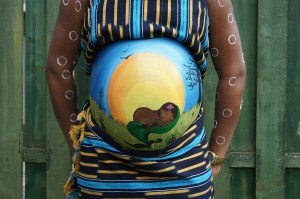 Bellypainting maman baby shower