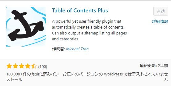 WordPressプラグインに挑戦!!目次を表示する「Table of Contents Plus 」のプラグイン