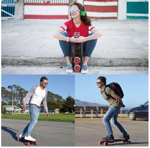 チームのメンバーは全員、自分自身が使いたいから作ってしまた。電動ロングスケートボード「Linky(リンキー)」