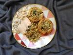 Champignons farcis au fenouil