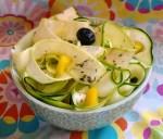 Tagliatelles de courgettes au citron et thym