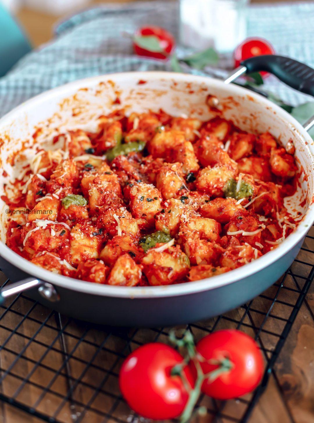 GNOCCHIS MAISON SANS GLUTEN sauce tomate pesto