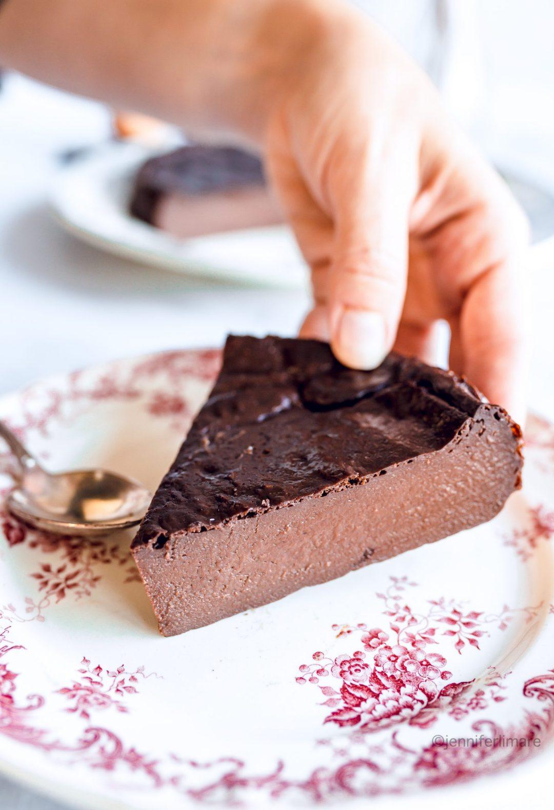 Flan au chocolat maison sans pâte 7
