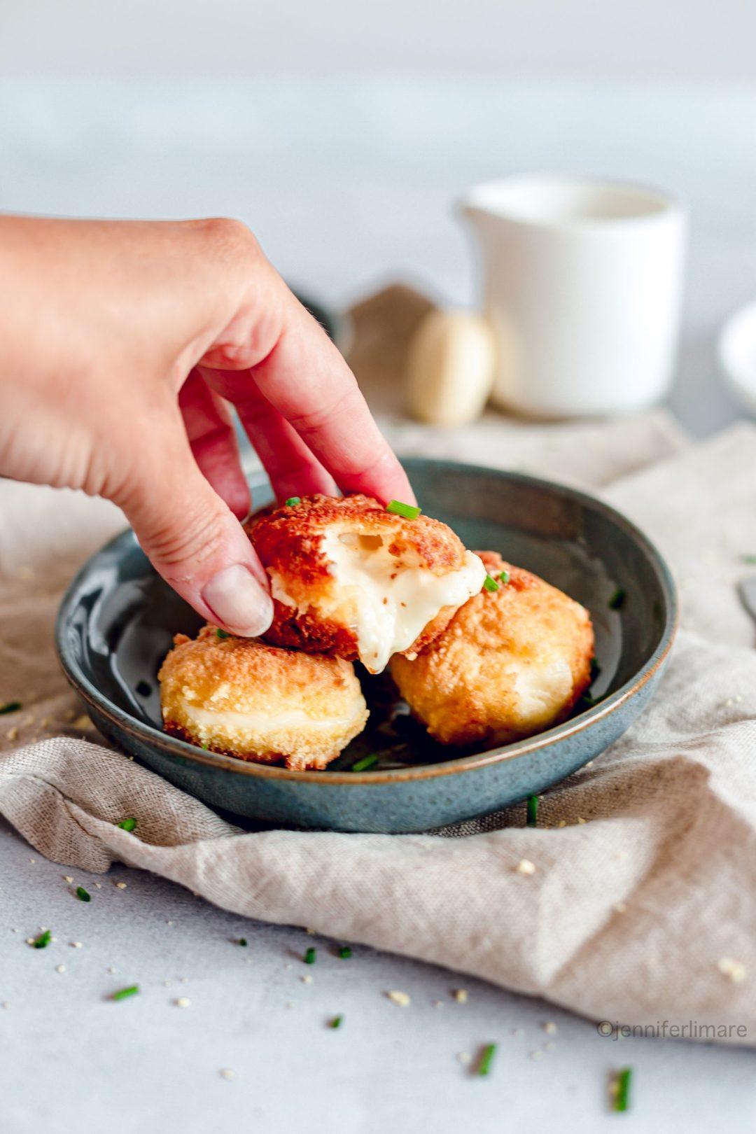 croquettes de fromage coulantes sans gluten 2