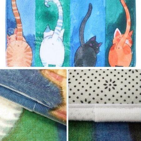 tapis chat salle de bain idee cadeau chat