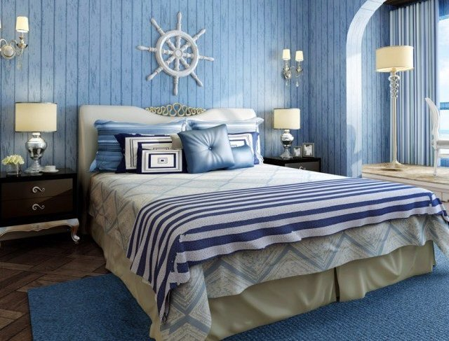Ma chambre à coucher au style marin - Ma deco maisons