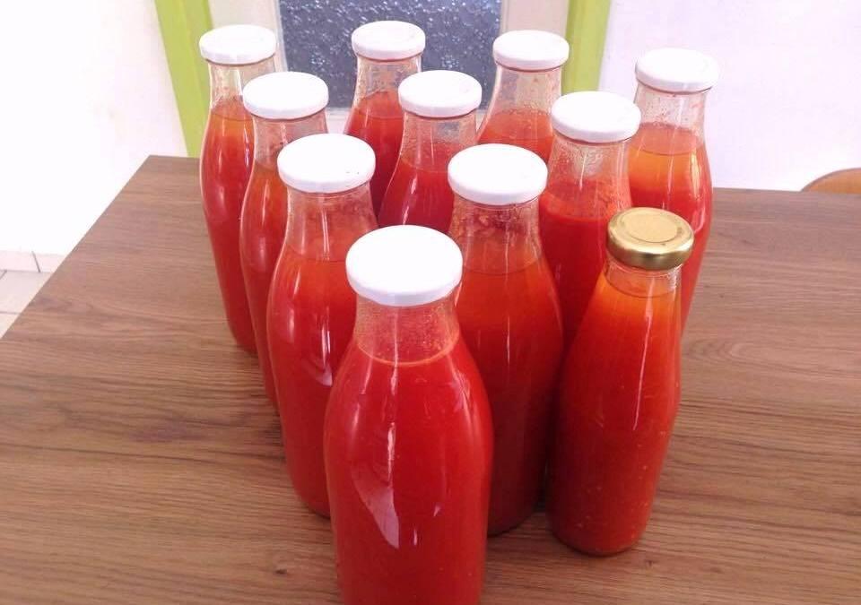 Coulis de tomates pour l'hiver