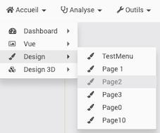 Ouvrir une page du design