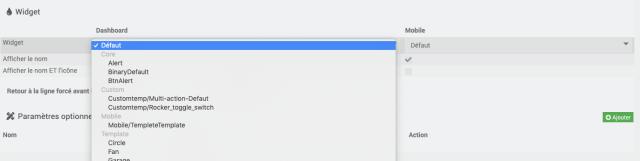 3 - Sélection du widget