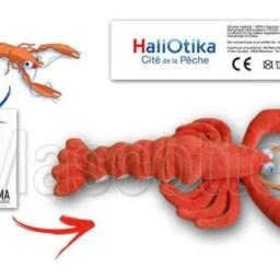 Fabrication Peluche Sur Mesure langoustine HALIOTIKA (peluche animal sur mesure).