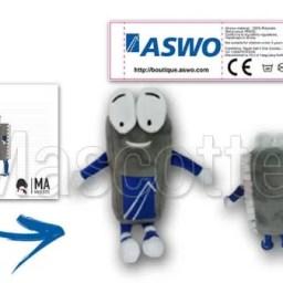 Fabrication Peluche Sur Mesure microprocesseur ASWO (peluche personnage sur mesure).