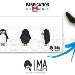 Fabrication Mascotte Sur Mesure pingouin TOUPARGEL (mascotte animal sur mesure).