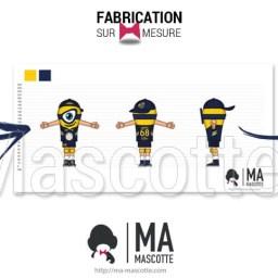 Fabrication Mascotte Sur Mesure minion VOLLEY-BALL NANTES (mascotte personnage sur mesure).