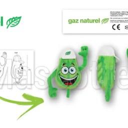Fabrication Peluche Sur Mesure feuille GAZ NATUREL (peluche objet sur mesure)