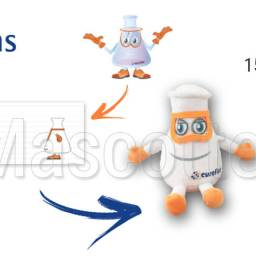 Fabrication Peluche Sur Mesure laboratoire EUROFINS (peluche objet sur mesure)