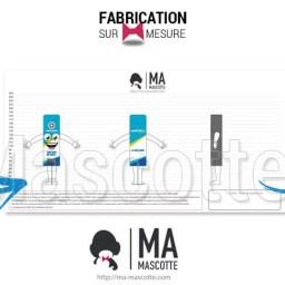 Fabrication Mascotte Sur Mesure boîte à selfie WALTABOX (mascotte objet sur mesure).