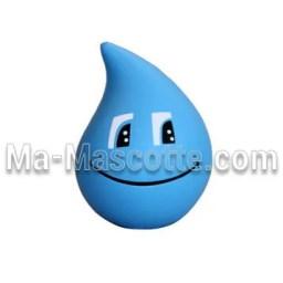 Fabrication figurine antistress sur mesure goutte d'eau. Antistress mousse personnalisé.