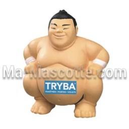 Fabrication figurine antistress sur mesure sumo. Antistress mousse personnalisé.