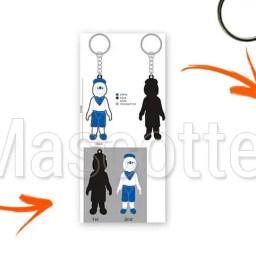 Fabrication Porte Clés Sur Mesure PVC Fête du Cassoulet.