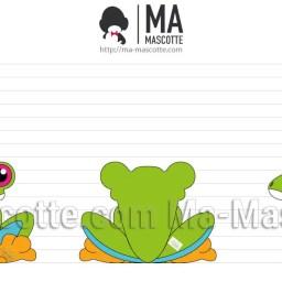 Design 3D Peluche Sur Mesure Grenouille. Création graphique Peluche.