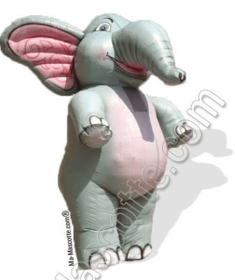 Mascotte gonflable elephant sur mesure