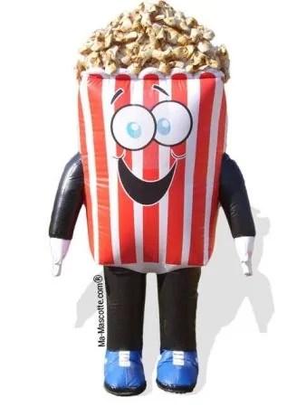 Mascotte gonflable popcorn sur mesure