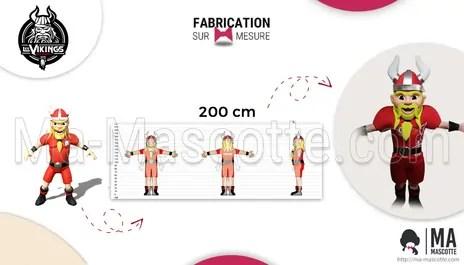 Custom made mascot viking handball