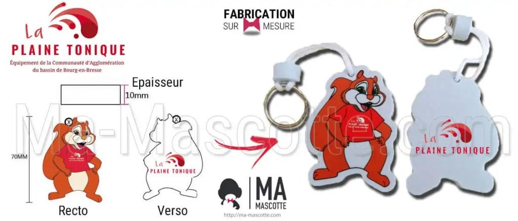 foam custom keychain eva manufacturing squirrel