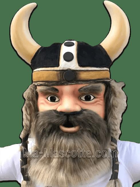 création mascotte résine viking sur mesure