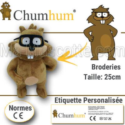 Fabrication Peluche Sur Mesure raton CHUMHUM (peluche animal sur mesure).