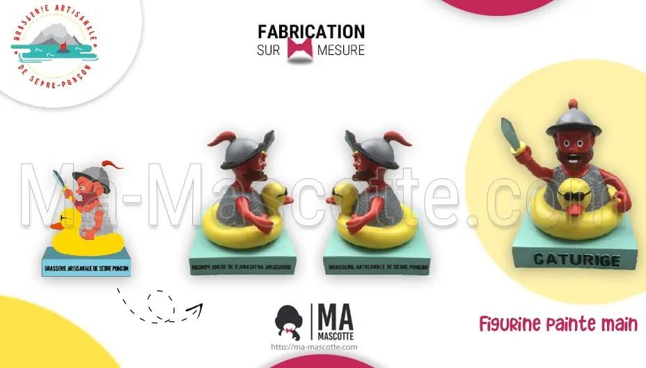 Fabrication Figurine Sur Mesure Résine Caturige de chez Brasserie artisanales de serre-ponçon. Figurine Personnalisée.