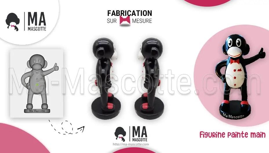 Fabrication Figurine Sur Mesure Résine Ma-Mascotte Nigulito. Figurine Personnalisée.