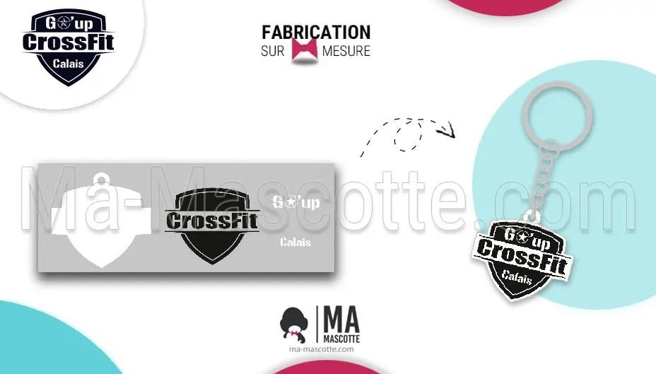 porte clés sur mesure crossfit - Go Up Crossfit Valais