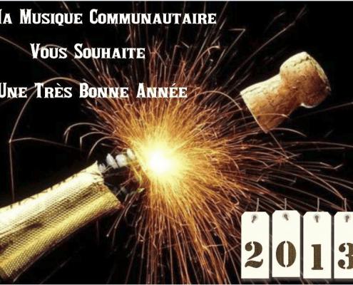 photos présentant les Voeux de l'année 2013 de Ma Musique Communautaire
