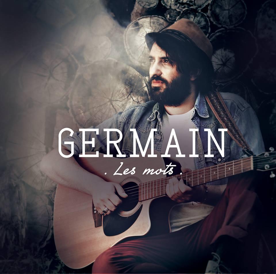 """la pochette du single """"les mots"""" de Germain"""