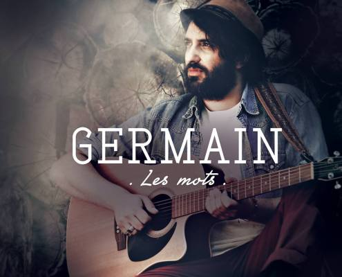 "la pochette du single ""les mots"" de Germain"