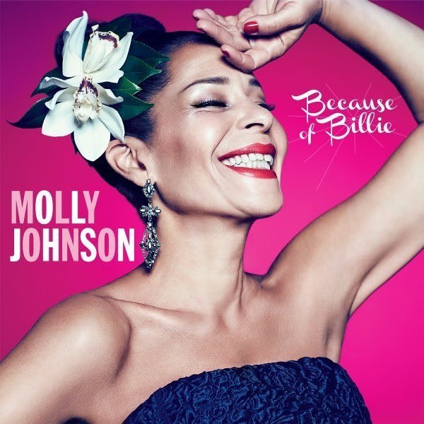 voici la cover du dernier album musical de la chanteuse de jazz canadienne Molly Johnson