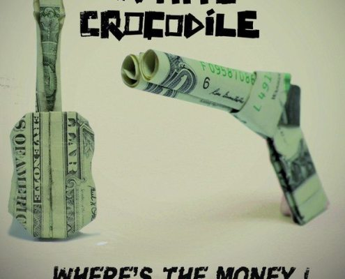 la couverture du single du groupe international White Crocodile where's the money